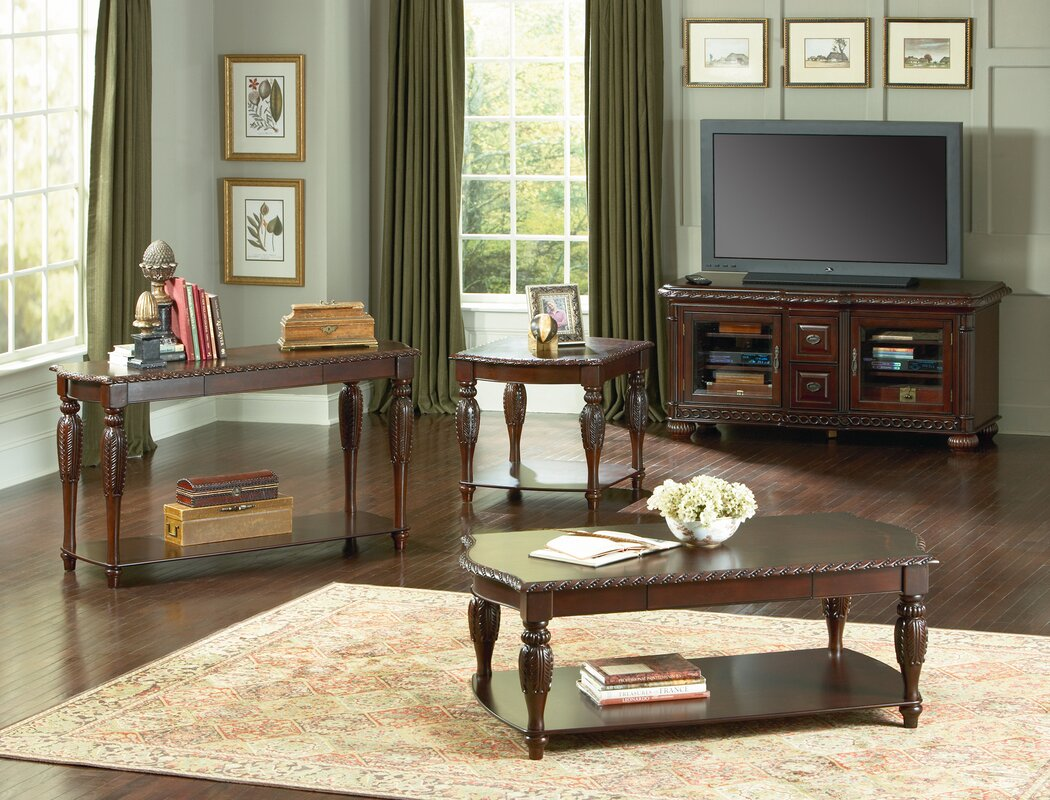 Astoria Grand Hassler 3 Piece Coffee Table Set
