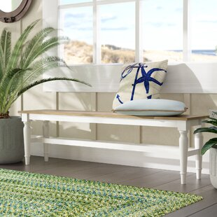 Cleveland Wood Bench by Beachcrest Home