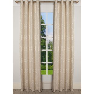 Royston Solid Room Darkening Grommet Single Curtain Panel by Charlton Home