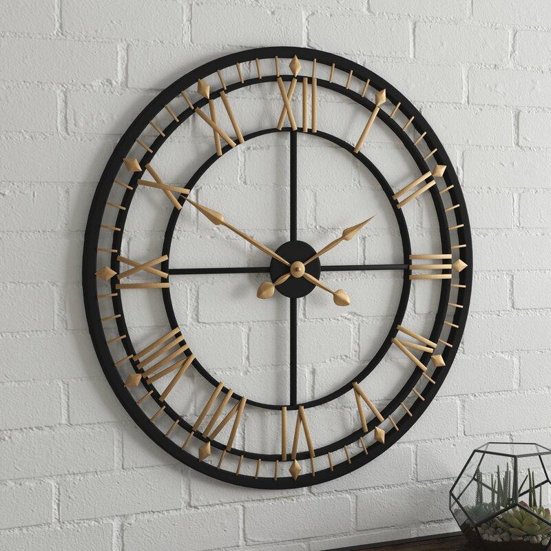 b39fe8315dd2 Borough Wharf Oversized 80cm Wall Clock & Reviews   Wayfair.co.uk