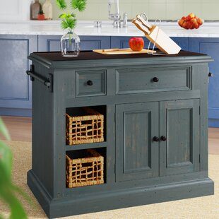 Ziolkowski Kitchen Island with Granite Top
