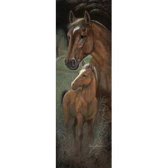 Buyenlarge Clydesdale Stallion And Mare By Samuel Sidney Painting Print Wayfair