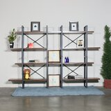 Loic 56.69'' H x 82.68'' W Metal Etagere Bookcase by 17 Stories