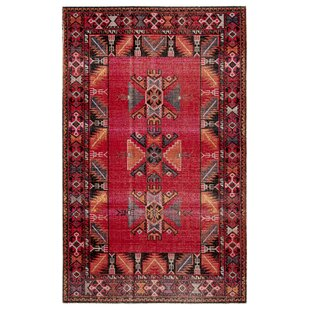 Jamaica Avenue Tribal Red Indoor/Outdoor Area Rug