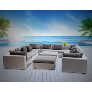 Malani 12 Piece Sunbrella Sectional Seating Group with Sunbrella Cushions
