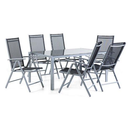 7-tlg. Essgruppe Canter | Küche und Esszimmer > Essgruppen | Aluminium | Home Loft Concept