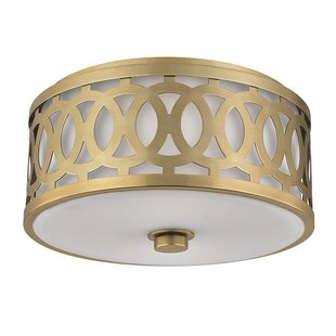 Everly Quinn Maspeth 2-Light Flush Mount