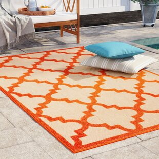 Barker Sand/Orange Indoor/Outdoor Area Rug