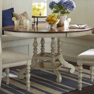 Lark Manor Alise Extendable Solid Wood Di..