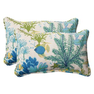 Splish Splash Corded Indoor/Outdoor Lumbar Pillow (Set of 2)