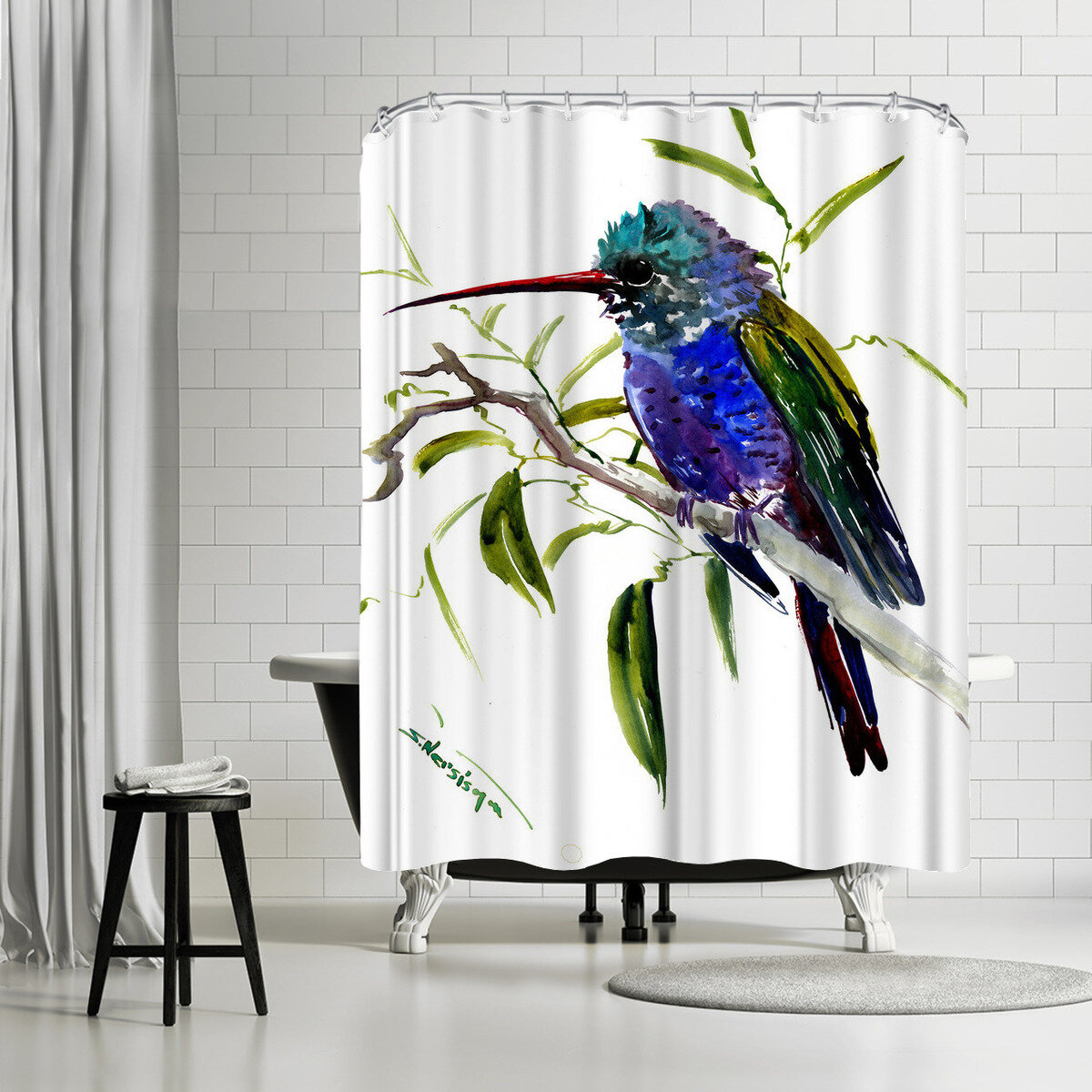 East Urban Home Suren Nersisyan Hummingbird Single Shower Curtain Wayfair