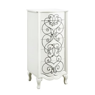 Rosdorf Park Cowan Jewelry Armoire with Mirror