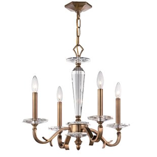 Charlton Home Alia 4-Light Candle-Style Chandelier