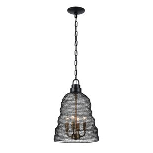 Jeavon 4-Light Metal Shade Cone Pendant by 17 Stories