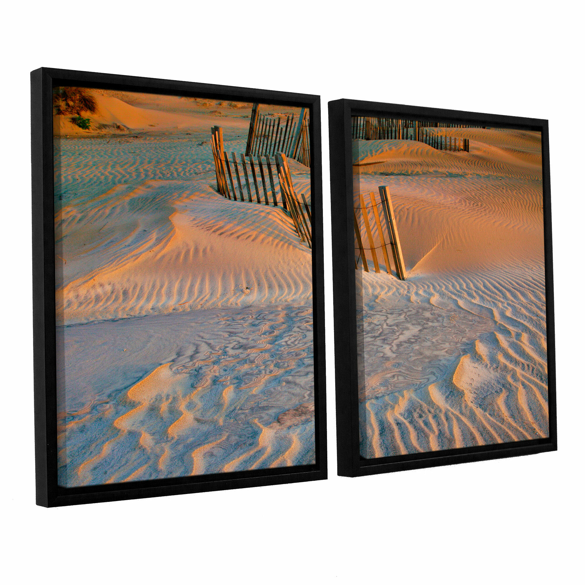 Artwall Dune Patterns Ii By Steve Ainsworth 2 Piece Framed Photographic Print On Wrapped Canvas Set Wayfair