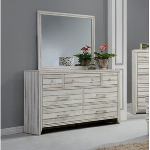 Andrews 7 Drawer Dresser With Mirror by Highland Dunes Great price
