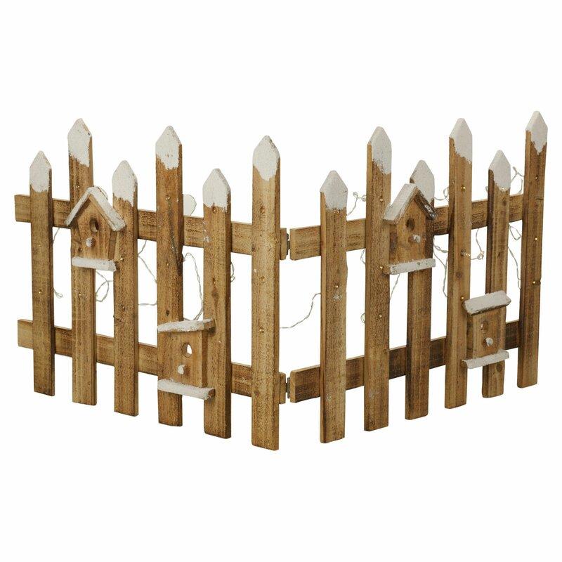 The Seasonal Aisle Christmas Garden and Tree Border Fence with LED & Reviews   Wayfair.co.uk
