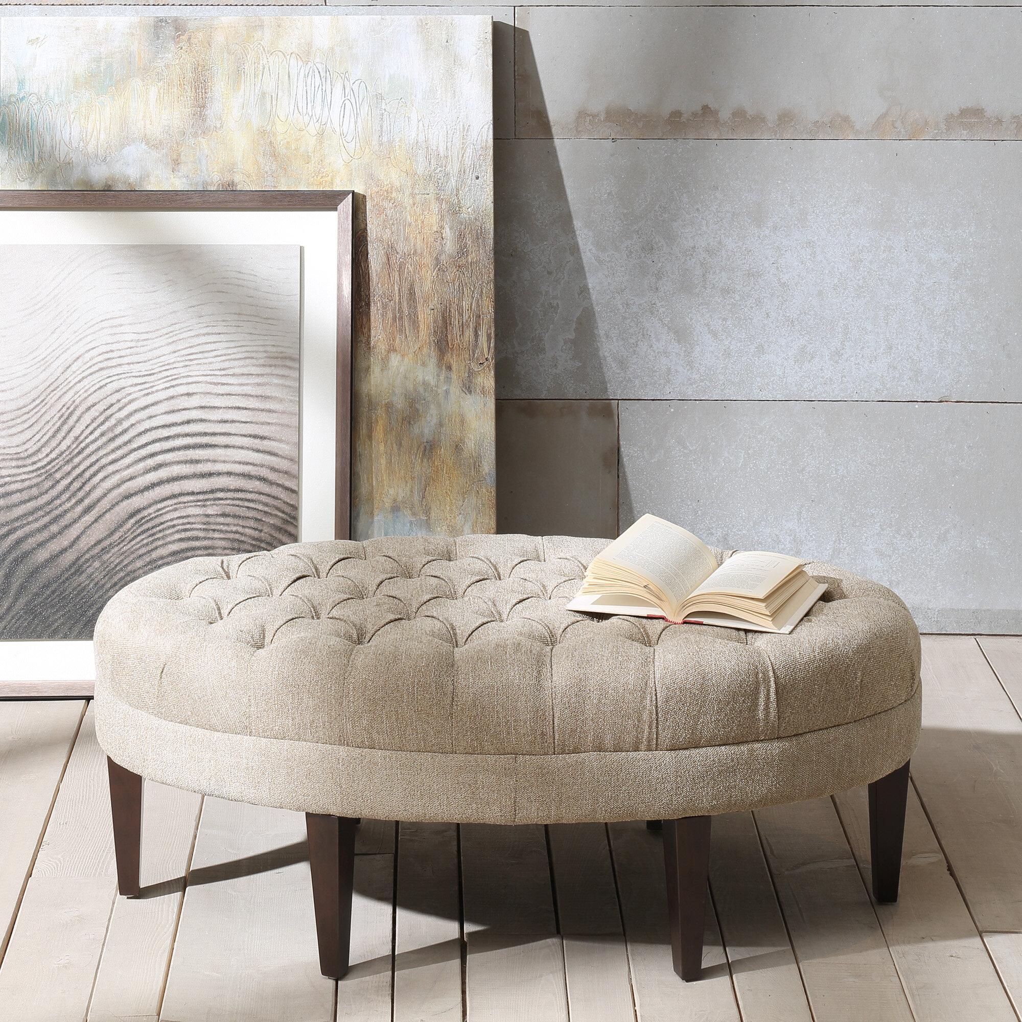 Tremendous Keats Tufted Cocktail Ottoman Evergreenethics Interior Chair Design Evergreenethicsorg