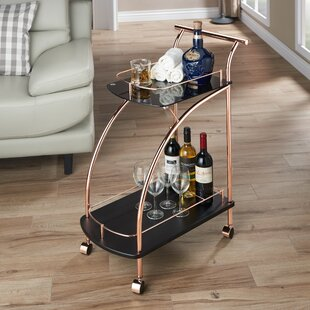 Brayden Studio Halverson Contemporary Bar Cart