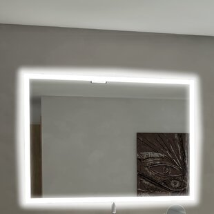 Compare prices Rectangle Backlit Bathroom/Vanity Wall Mirror ByParis Mirror