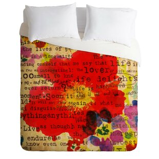 Poetry 2 Duvet Cover Set by East Urban Home