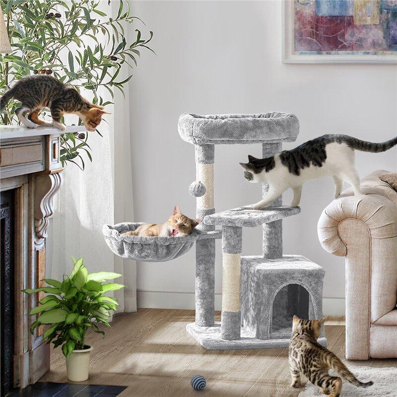 10.4''h Cat Tree Kitten Tower Only $48.77