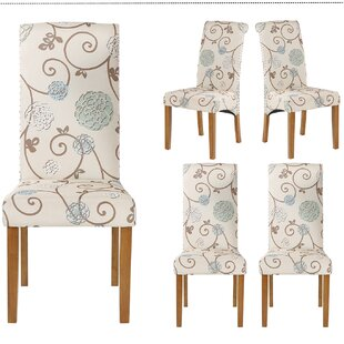 Aakif Upholstered Parsons Chair in Beige Set of 4