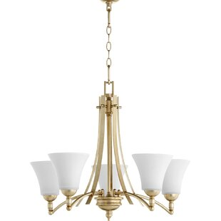 Top Reviews Eastchester 5-Light Shaded Chandelier By Alcott Hill