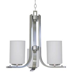 Carmen 3-Light Shaded Chandelier by Whitfield Lighting