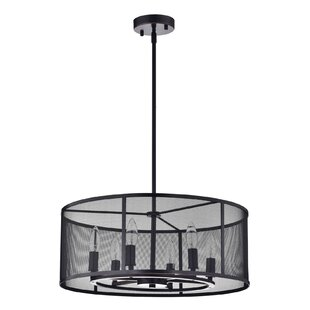 Boudreaux Metal Mesh 6-Light Chandelier