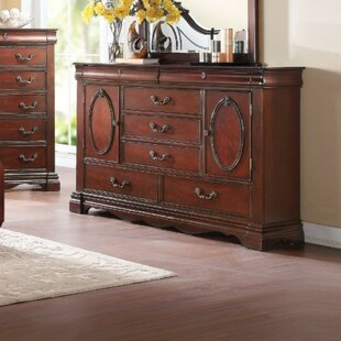 Surface Wooden 5 Drawer Combo Dresser
