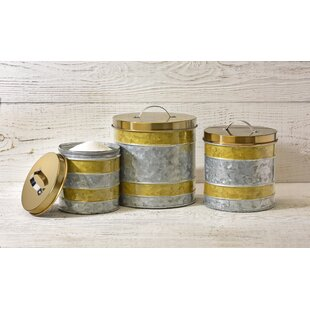 Galvanized Kitchen Canister Set (Set of 3)
