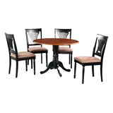 Shorewood 5 Piece Drop Leaf Solid Wood Dining Set by August Grove®