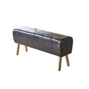 Brower Faux Leather Bench