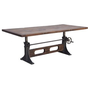 Camille Crank Solid Wood Dining Table by 17 Stories