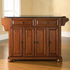 Pottstown Kitchen Island with Granite Top by Darby Home Co Sale