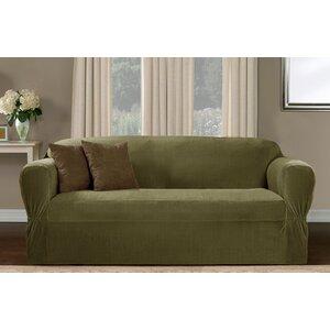 One Piece Box Cushion Sofa Slipcover