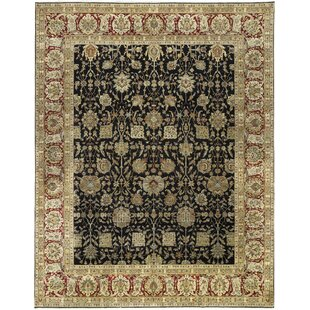 Best Reviews One-of-a-Kind Sona Handwoven 12'1 x 15'1 Wool Black/Beige Area Rug ByBokara Rug Co., Inc.