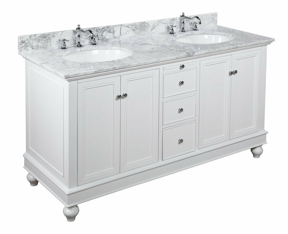 white double sink bathroom vanity. Bella 60  Double Bathroom Vanity Set Vanities You ll Love Wayfair