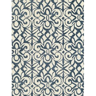 Best Reviews Hooked Blue/White Area Rug ByDash and Albert Rugs