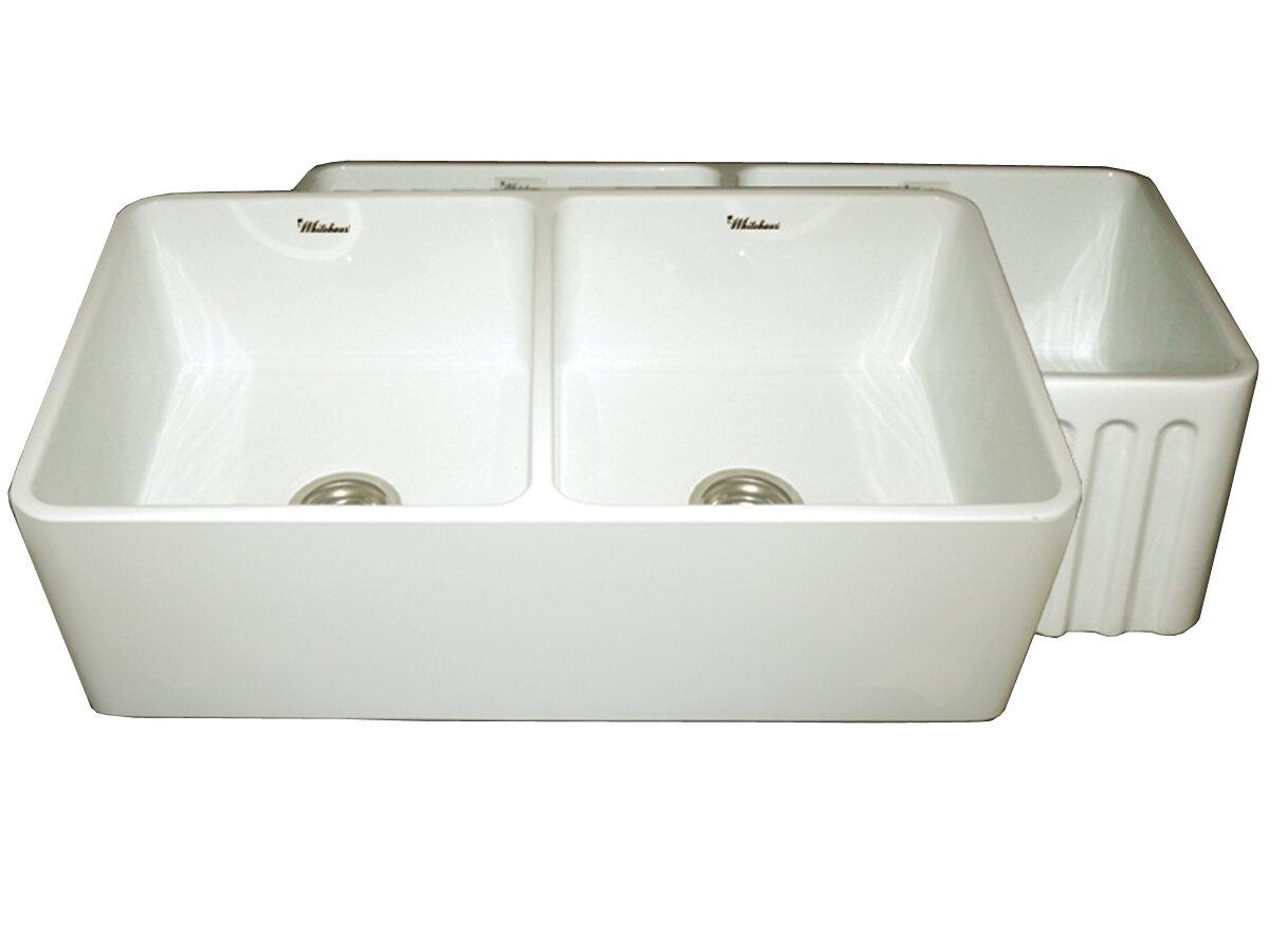 Whitehaus Collection Farmhaus 33 L X 18 W Double Basin Farmhouse Kitchen Sink Reviews Wayfair