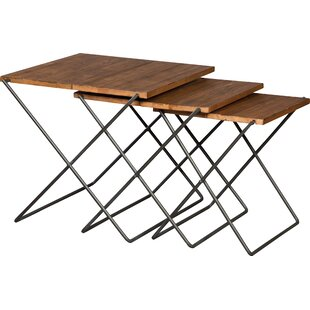 Boone Forge 3 Piece Nesting Tables by Fairfield Chair 2019 Sale
