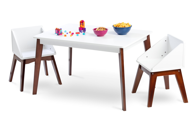Zoomie Kids Wiersma Modern Kids 3 Piece Play Table And Chair Set Reviews Wayfair