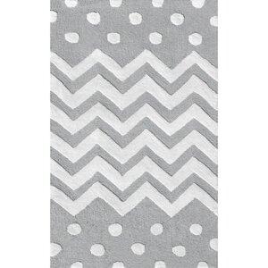 Gray/White Area Rug