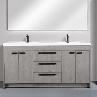 Zuzanna Modern 72 Double Bathroom Vanity Set by Orren Ellis