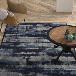 Low priced Demetrius Navy Area Rug By Williston Forge