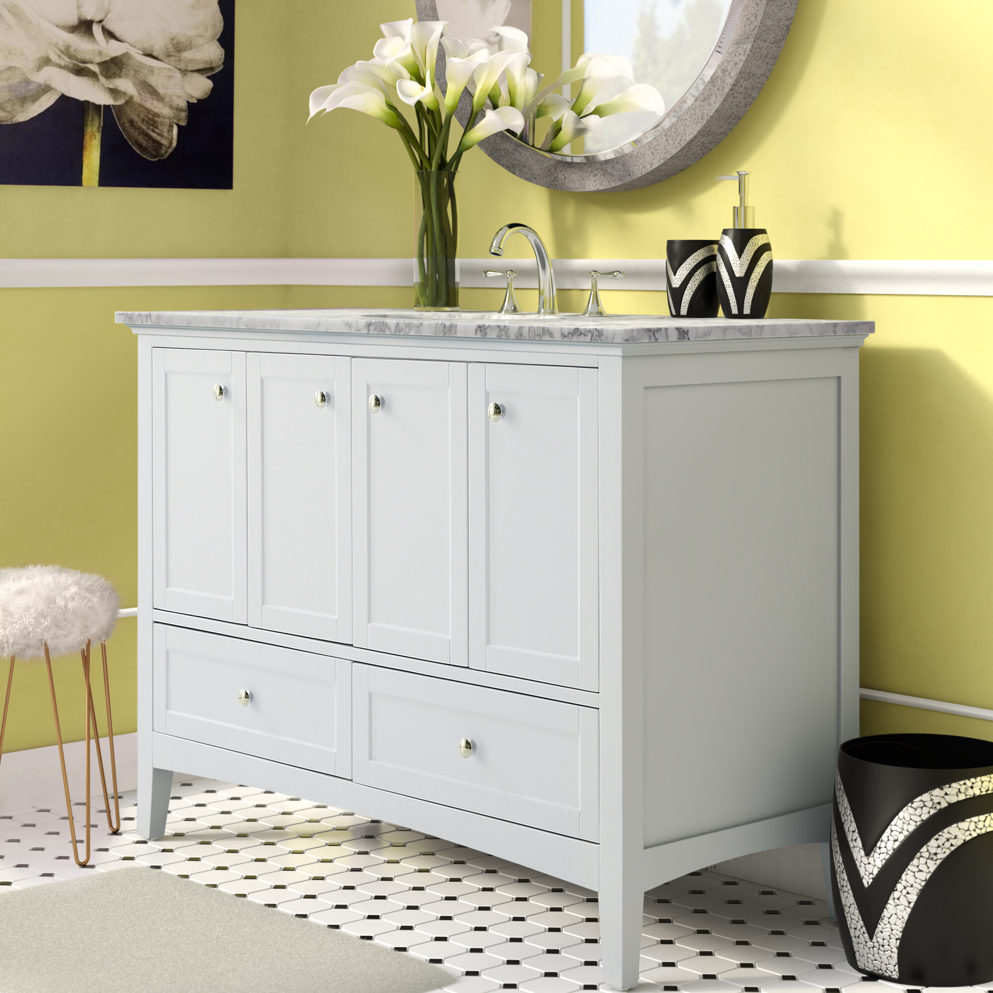Mercer41 Pettway 48 Single Bathroom Vanity Set Reviews Wayfair