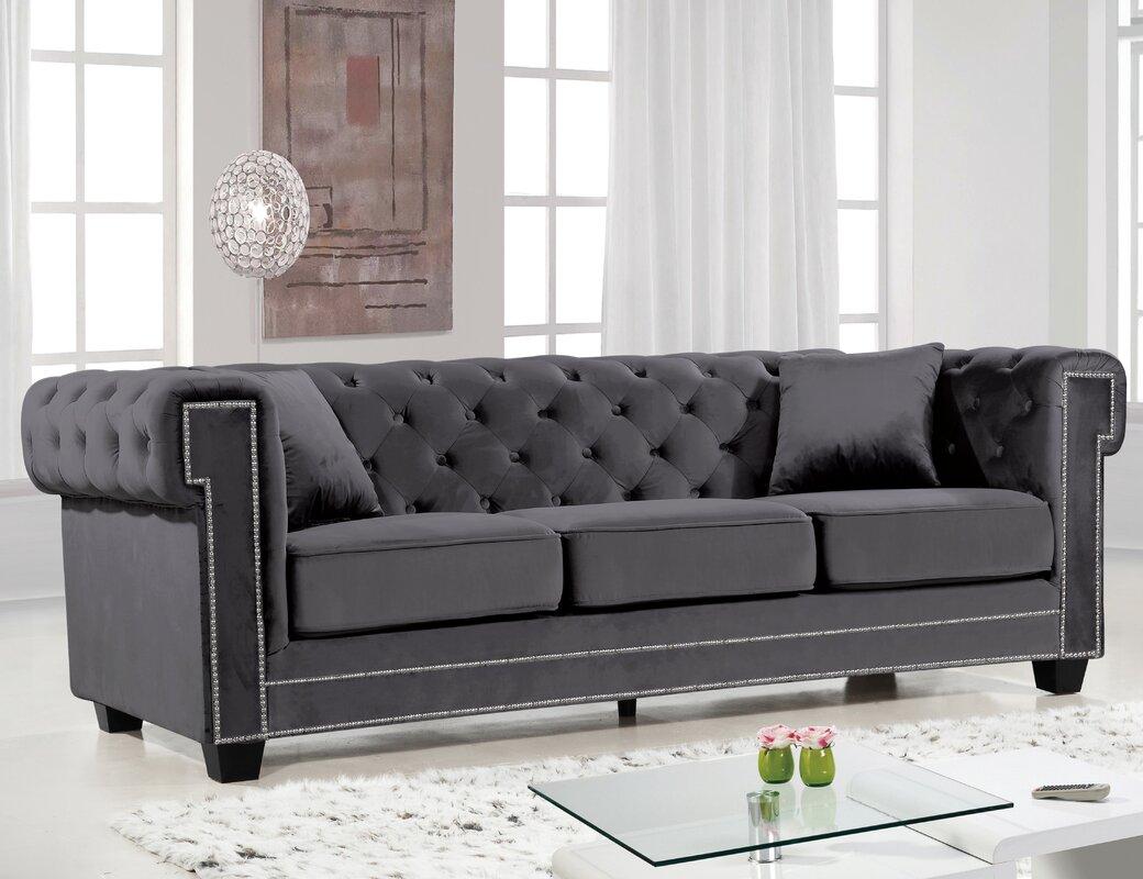 Sofa Chesterfield willa arlo interiors hilaire chesterfield sofa reviews wayfair