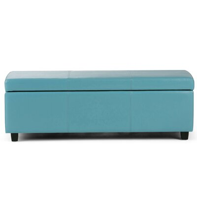 Agnon Faux Leather Storage Bench Upholstery: Blue by Alcott Hill