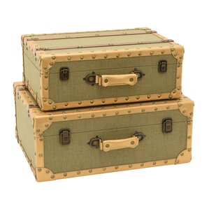 Ousseini Storage Suitcase 2 Piece Trunk Set